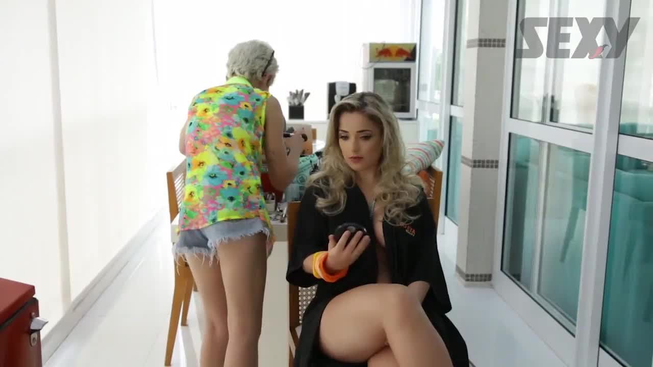 Micheline e Caroline Making Of Revista Sexy Maio 2017